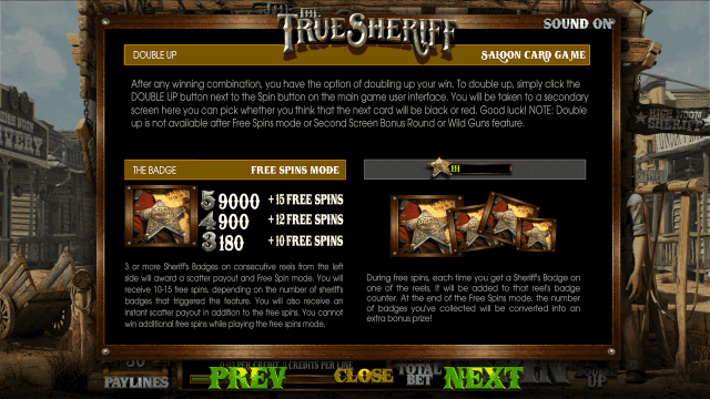 True Sheriff 6